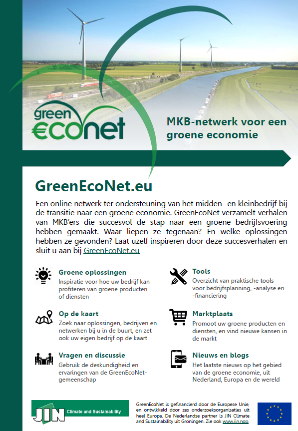 GreenEcoNet brochure NL 2016